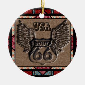 vintage route 66 leader america higway ceramic ornament