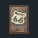 """vintage Route 66 personalized Trifold Wallet<br><div class=""""desc"""">A great gift for anyone who loves the lure of the open road.</div>"""
