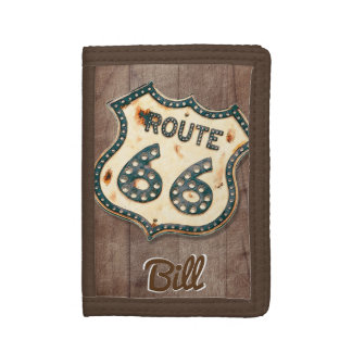 vintage Route 66 personalized Trifold Wallet