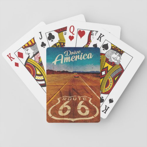 Vintage Route 66 Playing Cards