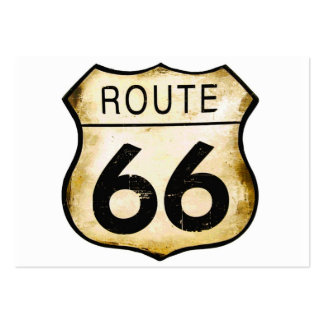 Vintage Route 66 Sign Large Business Card