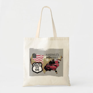 Vintage Route 66 Tote Bag