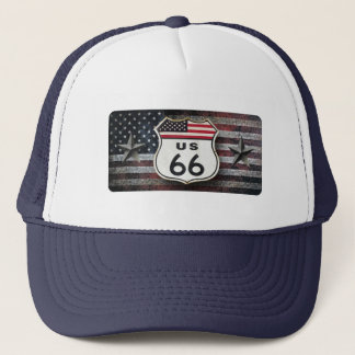 Vintage Route 66 Trucker Hat