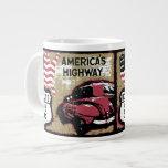 Vintage Route US 66 20 Oz Large Ceramic Coffee Mug