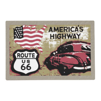 Vintage Route US 66 ... Placemat