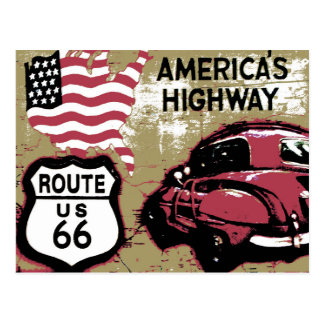 Vintage Route US 66 Postcard