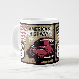 Vintage Route US 66 Extra Large Mugs