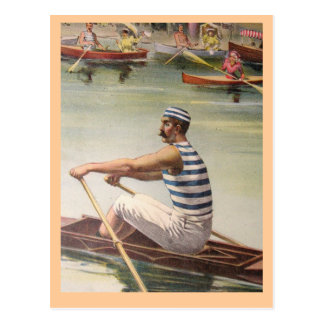 Vintage rower poster postcards
