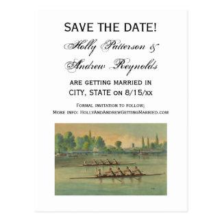 Vintage Rowers Crew Race Boat Race Postcard