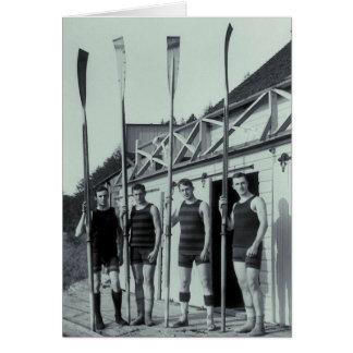 Vintage Rowing Team Card