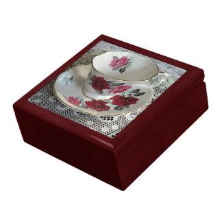 Vintage Royal Albert Red Roses Tea Cup Box