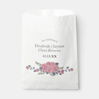 Vintage royal art deco roses painting favor bag