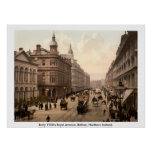 Vintage Royal Avenue Belfast, Northern Ireland Poster