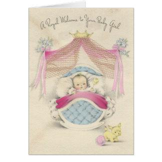 "Vintage ""Royal Baby Girl"" Card"