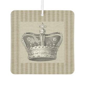 Vintage Royal Crown Decorative Beige Stripes