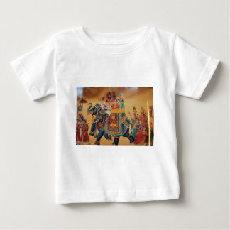 VINTAGE ROYAL INDIAN WEDDING PROCESSION  ELEPHANT BABY T-Shirt