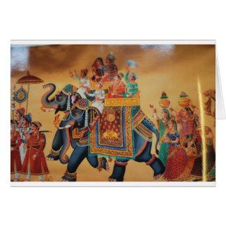 VINTAGE ROYAL INDIAN WEDDING PROCESSION  ELEPHANT CARD