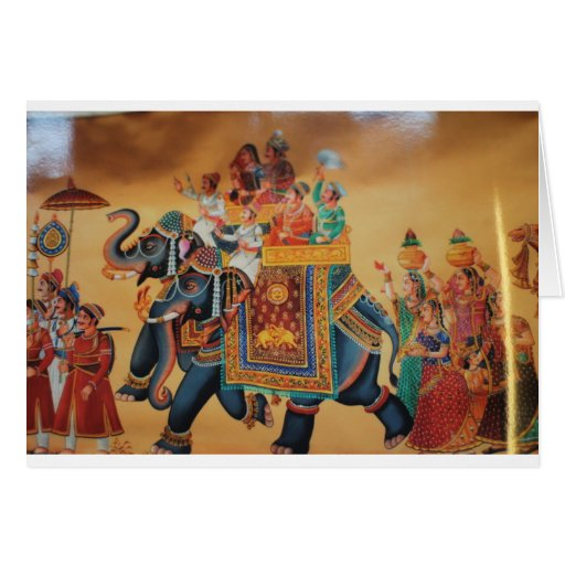 VINTAGE ROYAL INDIAN WEDDING PROCESSION ELEPHANT GREETING