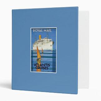 """Vintage Royal Mail :Atlantis Cruises"""" Binder"""