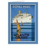 "Vintage Royal Mail :Atlantis Cruises"" Card"