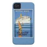 "Vintage Royal Mail :Atlantis Cruises"" iPhone 4 Case"