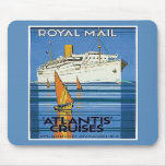 "Vintage Royal Mail :Atlantis Cruises"" Mouse Pad"