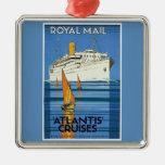 "Vintage Royal Mail :Atlantis Cruises"" Christmas Tree Ornaments"