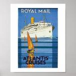 "Vintage Royal Mail :Atlantis Cruises"" Poster"