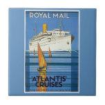 "Vintage Royal Mail :Atlantis Cruises"" Tiles"