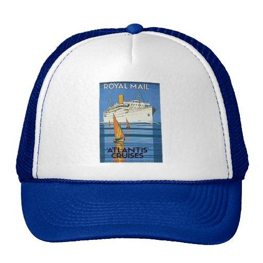 "Vintage Royal Mail :Atlantis Cruises"" Trucker Hats"