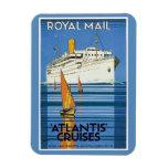 """Vintage Royal Mail: La Atlántida cruza """" Imanes De Vinilo"""