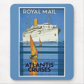 "Vintage Royal Mail: La Atlántida cruza "" Mouse Pad"