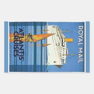 "Vintage Royal Mail: La Atlántida cruza "" Rectangular Altavoces"