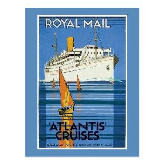 "Vintage Royal Mail: La Atlántida cruza "" Postal"