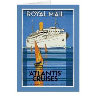 """Vintage Royal Mail: La Atlántida cruza """" Tarjeta De Felicitación"""