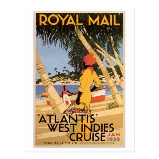 Vintage Royal Main Atlantis West Indies Cruise Jan Postcard