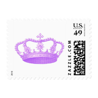 Vintage Royal Purple Crown Collection Postage Stamps