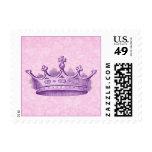 Vintage Royal Purple Crown Collection Postage Stamp