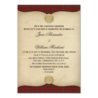 Vintage Royal Stewart Tartan Plaid Wedding Invites