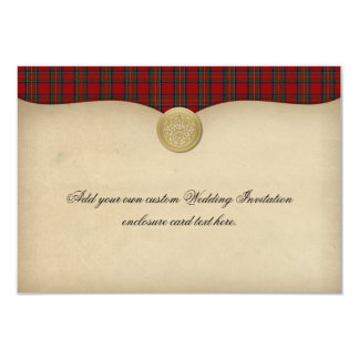 Vintage Royal Stewart Tartan Wedding Enclosure Card