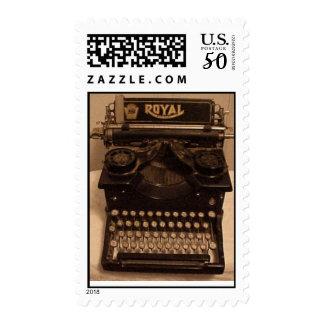 Vintage Royal Typewriter postage stamp