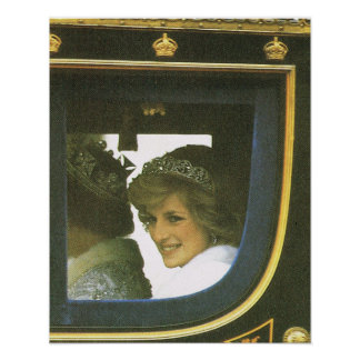 Vintage Royalty, Diana Accompanying Queen Poster