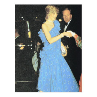 Vintage Royalty, Diana at a fashion show Postcard