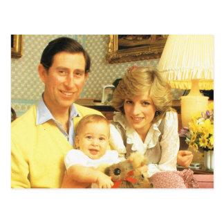 Vintage Royalty, Prince Charles, Diana, William Postcard