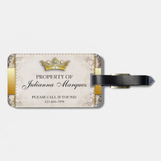 Vintage Royalty Property of Luggage Tag