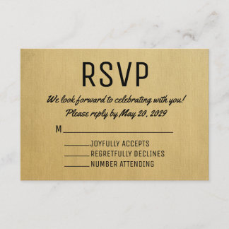 Vintage RSVP Card Mid Century Response Cards