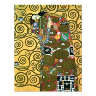 Vintage RSVP cumplimiento el abrazo por Klimt