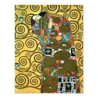 """Vintage RSVP, cumplimiento (el abrazo) por Klimt Invitación 4.25"""" X 5.5"""""""