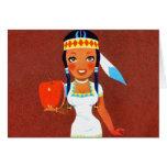 Vintage Rtrro Kitsch Apple Pin Up Indian Princess