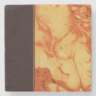 Vintage Ruddy Book Marbling and Binding Stone Coaster